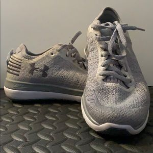 Under Armour- Charge Grey and White shoes !